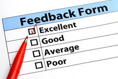 Feedback form Stock Image