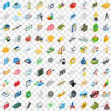 100 feedback icons set, isometric 3d style Royalty Free Stock Images