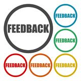 Feedback icons set Stock Image
