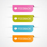 Feedback Icons Set Stock Photo