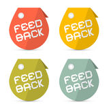 Feedback Icons Set Stock Photography