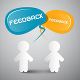 Feedback Illustration with Paper People Stock Images