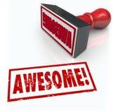 Feedback impressionante da revisão da avaliação do carimbo de borracha 3D da palavra Foto de Stock