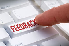 FEEDBACK Keyboard Button Online Submission Stock Photo