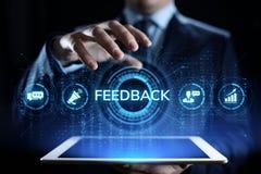 Feedback-Kundendienst-Berichthuldigungs-Dienstleistungsunternehmenkonzept stockfoto