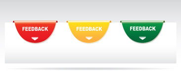 Feedback labels. Feedback labels  on a gray background Royalty Free Stock Images