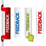 Feedback labels, paper stickers. Illustration Royalty Free Stock Photography