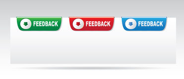Feedback labels. Feedback labels on a white background Stock Images