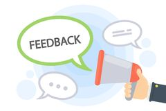 Feedback from megaphone. royalty free illustration