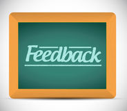 Feedback message written on a chalkboard Stock Photos
