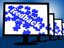 Feedback On Monitors Shows Report Information Royalty Free Stock Image