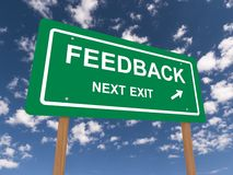 Feedback next exit road sign Stock Photography