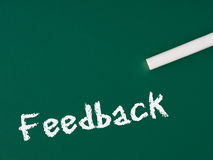 Feedback no quadro Fotografia de Stock Royalty Free