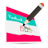 Feedback Paper Card with Pencil Royalty Free Stock Image