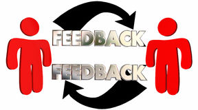 Feedback People Talking Sharing Opinions Comments. 3d Illustration Stock Photography