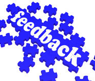 Feedback Puzzle Shows Satisfaction Surveys Stock Images