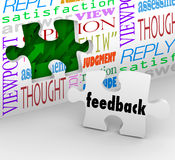 Feedback Puzzle Wall Words Customer Service Survey Royalty Free Stock Photography