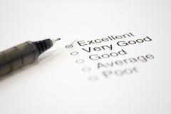 Feedback Questionnaire stock photos