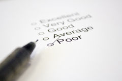 Feedback Questionnaire Royalty Free Stock Photo