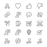 Feedback and review thin icons. Simple, Clear and sharp. Easy to resize Stock Photos