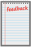 Feedback sheet. Providing or getting the necessary feedback Royalty Free Stock Photography