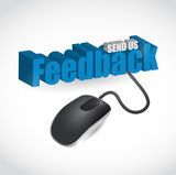 Feedback sign and mouse illustration design Stock Image