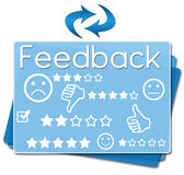 Feedback Squares Bottom Blue Stock Images