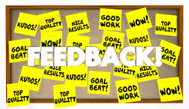 Feedback Sticky Notes Great Job Praise Royalty Free Stock Image
