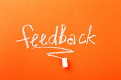 Feedback. Study. The need of feedback Stock Images