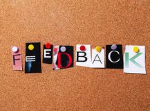 Feedback. Study. The need of feedback royalty free stock image