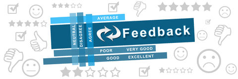 Feedback Symbols Stripe Banner Stock Photography