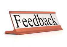 Feedback table tag isolated Royalty Free Stock Image