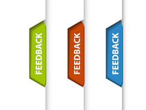 Feedback tabs on the edge of the (web) page Royalty Free Stock Photo
