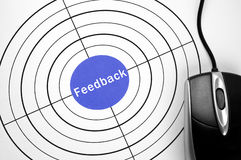 Feedback  target and pc mouse Royalty Free Stock Photography