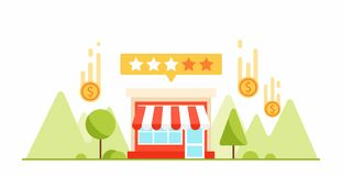 Feedback and testimonials of your small business. Money and coin Royalty Free Stock Image