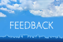 Feedback text on cloud Stock Images