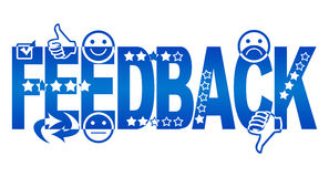 Feedback Text With Symbols Stock Photography