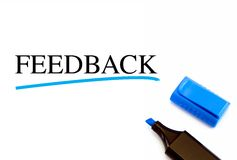 Feedback text Stock Images