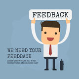 Feedback,Vector cartoon concept abstract business Royalty Free Stock Photography