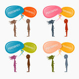 Feedback Vector Icons Set Royalty Free Stock Photos