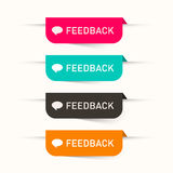 Feedback Vector Paper Labels. Stickers Set - Web Icons Royalty Free Stock Photo