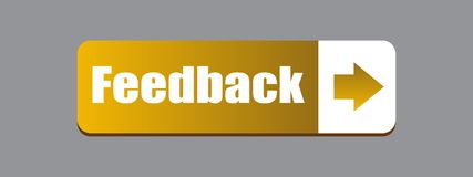 Feedback web button. Computer generated illustration on isolated white background royalty free illustration