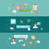 Feedback web infographic Royalty Free Stock Photography
