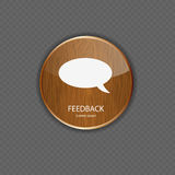 Feedback wood application icons Stock Photography