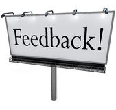 Feedback Word on Billboard Seeking Opinions Comments Input Stock Images