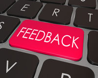 Feedback Word Computer Keyboard Key Opinion Stock Photography