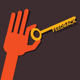 Feedback word key Royalty Free Stock Photos