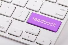 Feedback word on keyboard. Feedback word written on computer keyboard Royalty Free Stock Photography