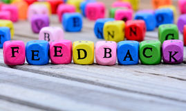 Feedback word on table Royalty Free Stock Photo
