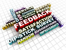Feedback words collage Stock Images